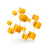 Structure of cubes vector icon stock illustration