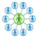 Structure d'équipe illustration libre de droits
