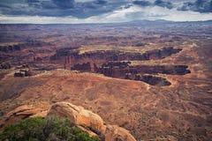 Structure d'érosion de parc national de Canyonlands photographie stock
