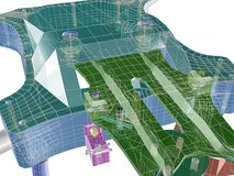 structure 3d 3D abstraits rendent illustration stock