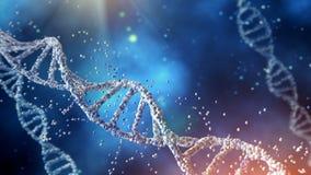Structure d'ADN d'illustration de Digital ? l'arri?re-plan de couleur illustration libre de droits