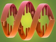Structure d'ADN sur le fond vert Photos stock