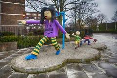 Structure d'art de la Communauté dans Hoxton, Londres est Photographie stock