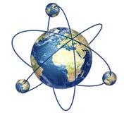 Structure d'atome illustration de vecteur
