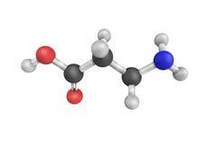 structure 3d de Bêta-alanine, un bêta acide aminé naturel illustration de vecteur
