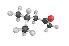 structure 3d de cétone isobutylique méthylique, un composé organique Il Images libres de droits