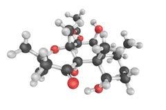 structure 3d de Forskolin (coleonol), un diterpène de labdane qui I illustration libre de droits