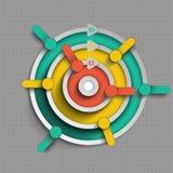 Structure d'Infographics de plusieurs niveaux illustration de vecteur