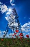 Structure d'installation de pétrole et de gaz Photographie stock