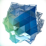 Structure 3d render computer graphics CG. Crystal illustration. One from the set. More in my portfolio. stock illustration