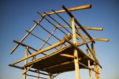 Structure de base pour une hutte photos stock