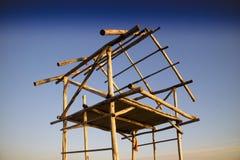 Structure de base pour une hutte photo stock