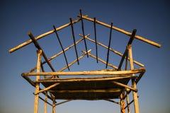 Structure de base pour une hutte photo libre de droits