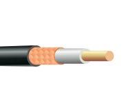 Structure de câble coaxial de liaison Images stock