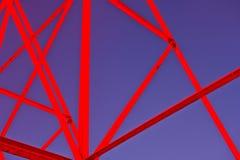 Structure de cadre en acier Photographie stock libre de droits