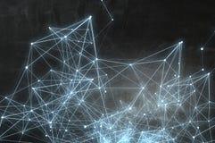 Structure de calcul de connexion rendu 3d photos stock