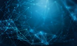 Structure de calcul de connexion rendu 3d image libre de droits