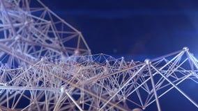 Structure de connexion de molécule Fond de la Science Images libres de droits