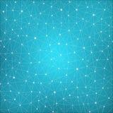 Structure de connexion Fond abstrait géométrique Photos stock
