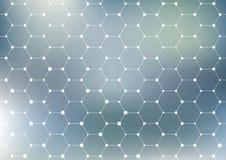 Structure de connexion Fond abstrait géométrique Médecine, la science et technologie Illustration de vecteur pour le votre Photographie stock