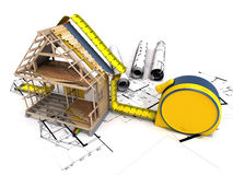 Structure de construction Photos stock