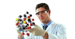 Structure de expérimentation de molécule de scientifique banque de vidéos