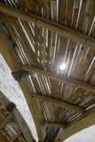 Structure de fin de bambou de toit  Image stock