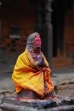 Structure de Hanuman au grand dos durbar, Népal Image stock