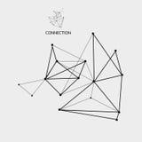 structure de la connexion 3D Style futuriste de technologie Illustration de vecteur pour la science Photo stock