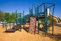 Structure de la cour de jeu des enfants Photos stock