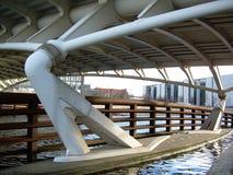 Structure de pont de rivière Images stock