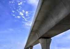 Structure de rail de train électrique Photographie stock