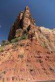 Structure de roche au temple de Sinawava Zion National Park photo stock