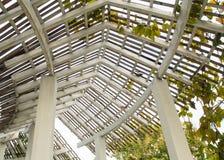 Structure de toit en bois Photo stock