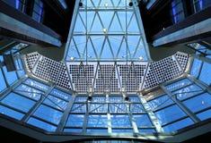 Structure de toit en verre Images stock