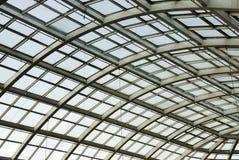 Structure de toit en verre dans le mail occidental d'Edmonton Photos libres de droits