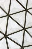 Structure de toit géodésique de dôme de fibre de verre Photo libre de droits