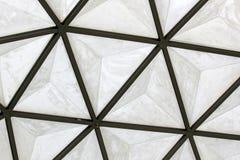 Structure de toit géodésique de dôme de fibre de verre Image libre de droits