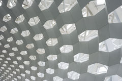 Structure de toit hexagonale Photo stock
