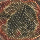 Structure de trellis Fond de la Science ou de technologie Conception graphique surface de la grille 3D Illustration de vecteur Illustration Libre de Droits