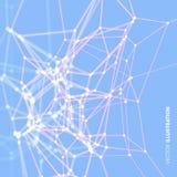 Structure de trellis Fond de la Science ou de technologie Conception graphique surface de la grille 3D Illustration de vecteur Illustration Stock