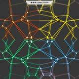 Structure de trellis Fond de la Science ou de technologie Conception graphique surface de la grille 3D Illustration de vecteur Illustration de Vecteur