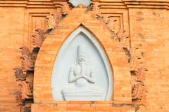 Structure decoration of Champa temple - Hidu Tower in Asia.  Stock Photography
