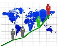 Structure des relations d'entreprise Image libre de droits
