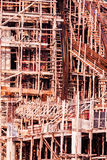 Structure detail in process of construction by using  alot of lo Royalty Free Stock Photos