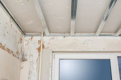 Structure for a drywall ceiling Royalty Free Stock Images
