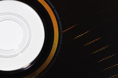 Structure of a dvd rom. Detailled close up from a dvd rom where you can see the structure Stock Images