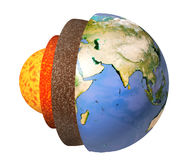 Structure of the Earth vector illustration