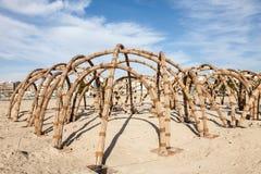 Structure en bambou dans la ville d'Al Ain Photographie stock