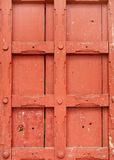 Structure en bois de verrouillage intense sur la trappe antique, place de Mysore image stock